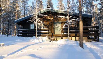 Trevlig timmerstuga i Björnrike fjällby