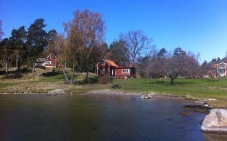 Hus på Gällnö i mellersta skärgården