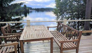 Waterfront am kleinen See, boot und sauna