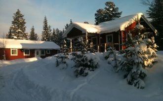 Mountain huts in snow proof Lofsdalen