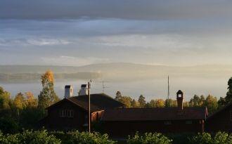 Houses in Sjurberg overlooking Lake Siljan