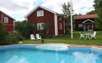 Cottage in Vikarbyn, swimming pool, Siljan view