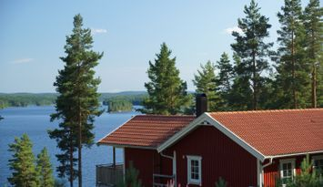 Ferienhaus mit Seeblick, Wifi und sauna