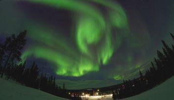 Hus i norra Lappland nära Torneälven/Kalixälven