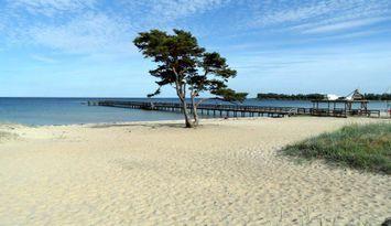 Fin stuga nära hav, pool & brygga i Åhus.