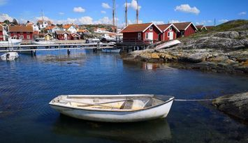 100 m från bad & Bryggor i Fiskeby