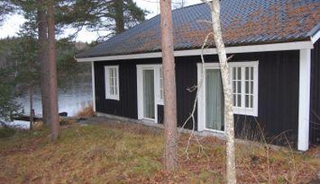 Nybyggt (2017) hus vid sjön Norra Vixen, Eksjö