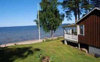 Hyr stuga vid stranden, Dalsland, Vänern