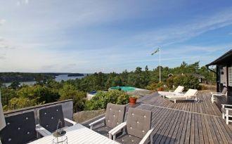 Haus mit fantastischem Meerblick nahe Stockholm