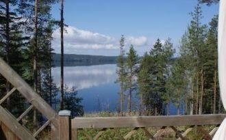 Vid sjön Lelång med panoramautsikt