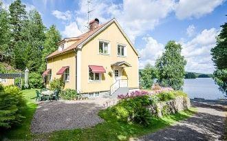 Hus vid sjön Stråken (Rud)