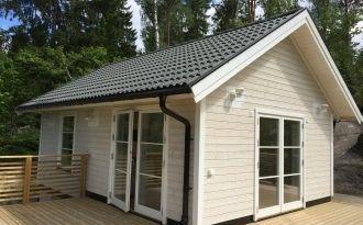 Sjönära nybyggt hus, Muskö, Stockholms skärgård