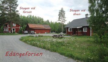 Stuga vid älven nära Järvsö