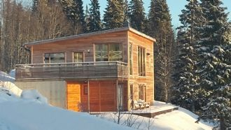 Comfortable by the slope with room for many