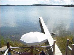 Privat paradis ö i Stocholmsskärgård