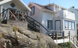 Mysigt fiskarhus i Grundsund - Skaftö - Lysekil