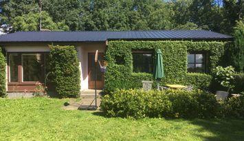 Rymligt enplanshus med härlig trädgård i Kivik
