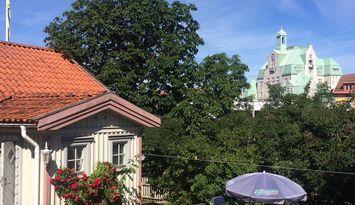K-märkt hus i centrala Strömstad