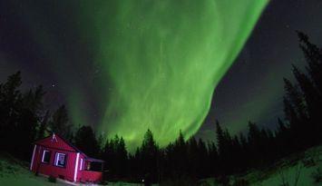 Stuga med bastu i Kiruna kommun, Lappland