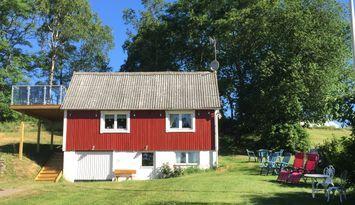 Stuga Båstad/Bjäre, solterrass m utsikt