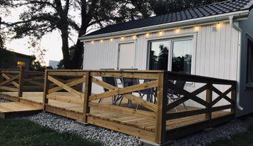 Nybyggd stuga på Norra Gotland