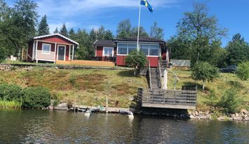 Lake view cottage in the middle of Småland