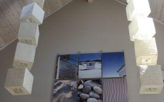 Modern house next to sandbeach at Lake Vettern