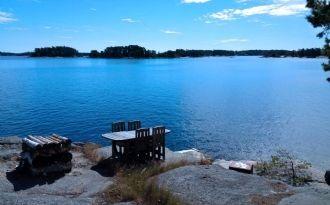 Sjöstuga med egen strand i Stockholms Skärgård