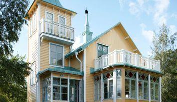 Sekelskiftesvilla på egen ö i Stockholms skärgård