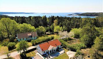 Nybyggd villa vid havet