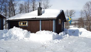 Mysig stuga mellan Hemavan & Tärnaby