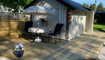 Liten stuga med havsutsikt Norra Gotland