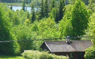 Stuga nära sjön Åsunden