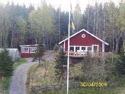 stuga i Kolmårdsskogen
