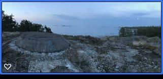 Bergön vandrarhem fd militärbaracker nära Arkösund