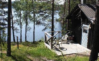 Stuga vid sjön Västra Silen i Årjäng