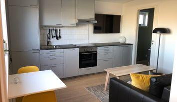 Nybyggd stuga med uteplats, Mariedal Varberg