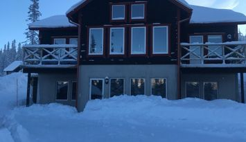 Modern och mysig fjällstuga med ski in - ski out