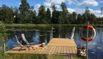 Härligt hus i Småland nära Helgeå, egen brygga!