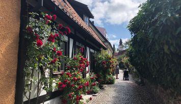 Visby Innerstad, korsvirkeshuset på  Fiskargränd