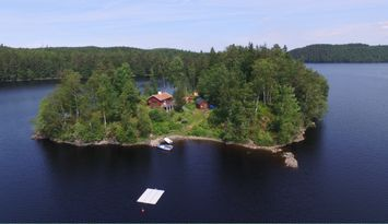 Bockön rent your private island on Lake Barken