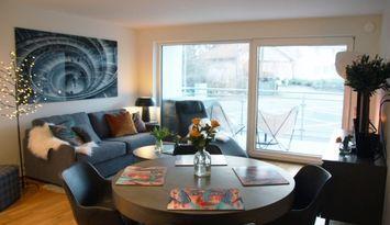 Nybyggd lägenhet i Tylösand nära golf och bad