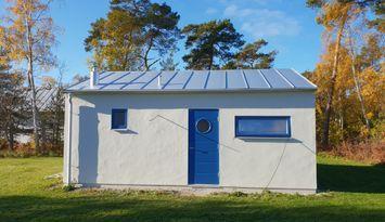 Nybyggt gästhus nära Tofta strand