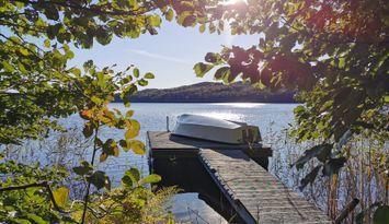 Fritidshus i Varberg vid sjö